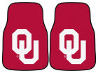 Oklahoma Sooners Car Mats Set/2 Auto Accessories