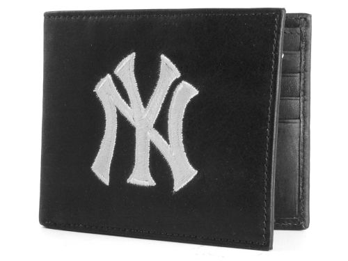 New York Yankees Rico Industries Black Bifold Wallet