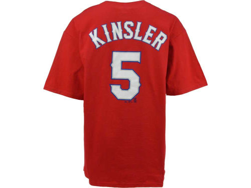 Texas Rangers Ian Kinsler Majestic MLB Player T-Shirt