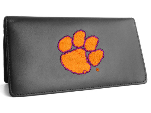 Clemson Tigers Rico Industries Black Checkbook Cover
