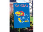 Kansas Jayhawks Applique House Flag Collectibles