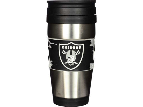 Oakland Raiders Hunter Manufacturing Stainless Steel Travel Tumbler