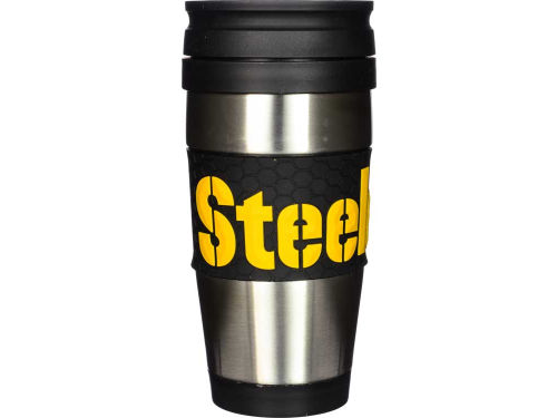 Pittsburgh Steelers Hunter Manufacturing Stainless Steel Travel Tumbler