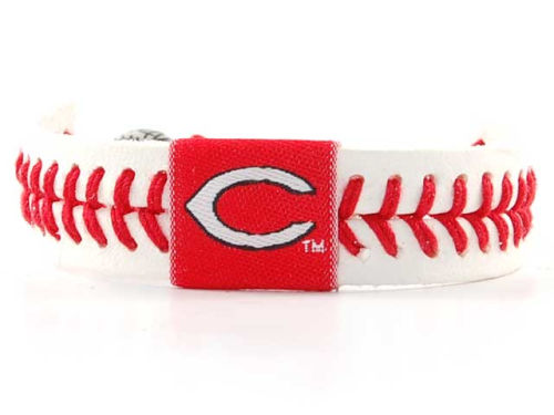 Cincinnati Reds Game Wear Baseball Bracelet