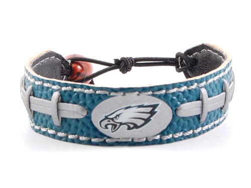 Philadelphia Eagles Game Wear Team Color Football Bracelet