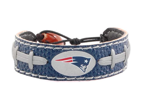 New England Patriots Game Wear Team Color Football Bracelet