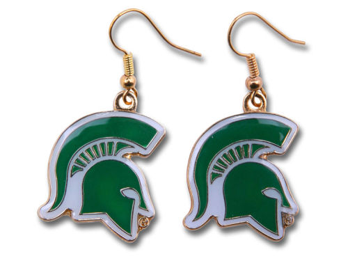 Michigan State Spartans Aminco Inc. Logo Earrings