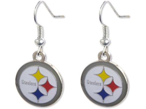 Pittsburgh Steelers Aminco Inc. Logo Earrings