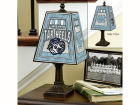 North Carolina Tar Heels Art Glass Table Lamp Bed & Bath
