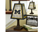 Michigan Wolverines Art Glass Table Lamp Bed & Bath