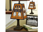Illinois Fighting Illini Art Glass Table Lamp Bed & Bath