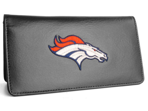 Denver Broncos Rico Industries Black Checkbook Cover