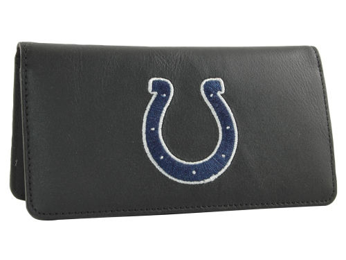 Indianapolis Colts Rico Industries Black Checkbook Cover