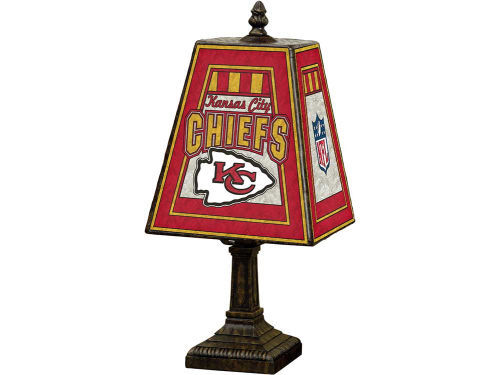 Kansas City Chiefs Art Glass Table Lamp