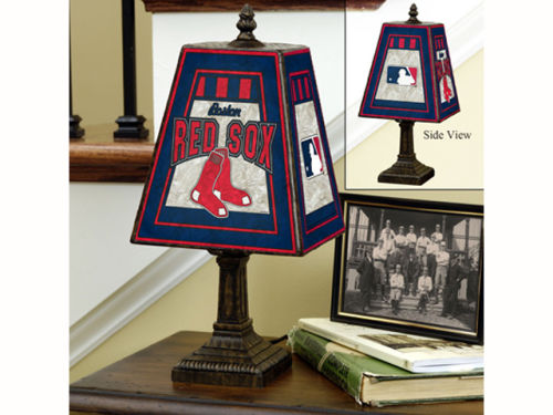 Boston Red Sox Art Glass Table Lamp