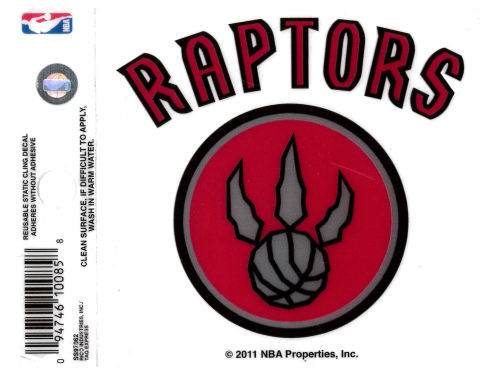 Toronto Raptors Rico Industries Static Cling Decal