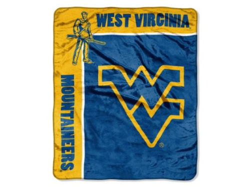 West Virginia Mountaineers 50x60in Plush Throw Blanket