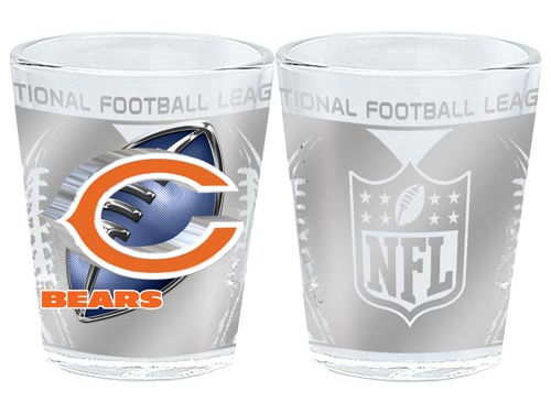 Chicago Bears 3D Wrap Collector Glass
