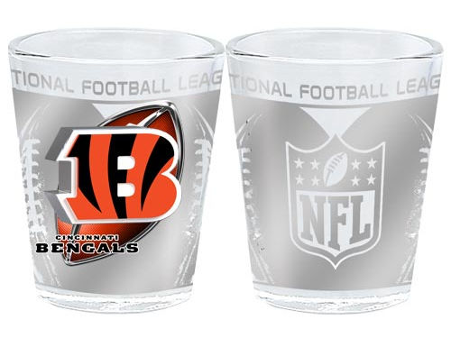 Cincinnati Bengals 3D Wrap Collector Glass