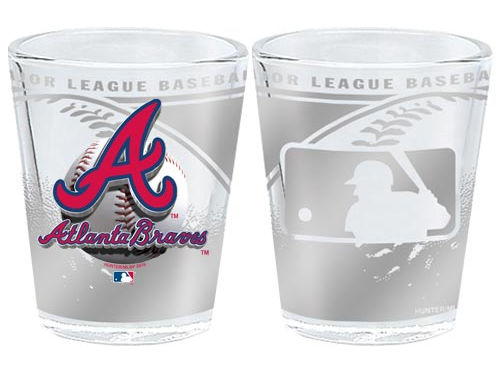 Atlanta Braves 3D Wrap Collector Glass