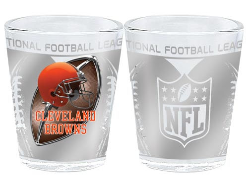 Cleveland Browns 3D Wrap Collector Glass