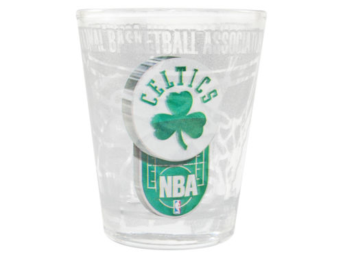 Boston Celtics 3D Wrap Collector Glass