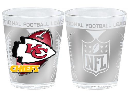 Kansas City Chiefs 3D Wrap Collector Glass