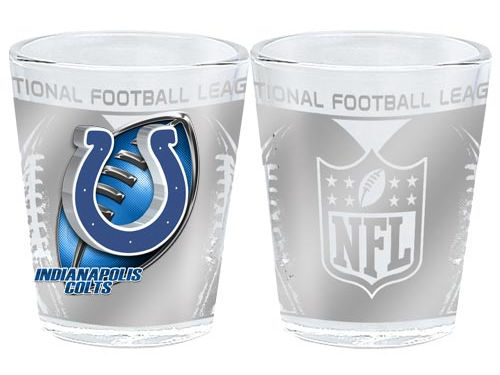 Indianapolis Colts 3D Wrap Collector Glass