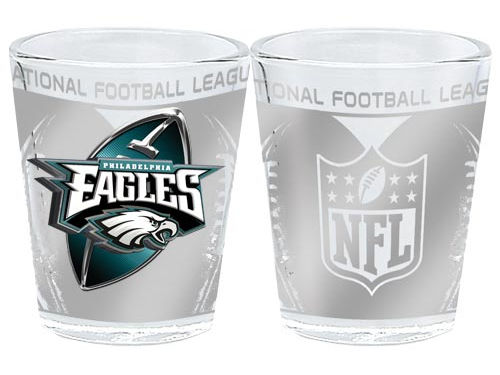 Philadelphia Eagles 3D Wrap Collector Glass
