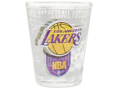 Los Angeles Lakers 3D Wrap Collector Glass