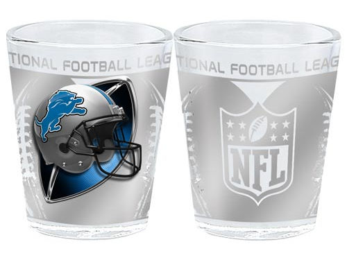 Detroit Lions 3D Wrap Collector Glass