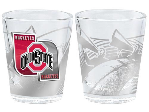 Ohio State Buckeyes 3D Wrap Collector Glass