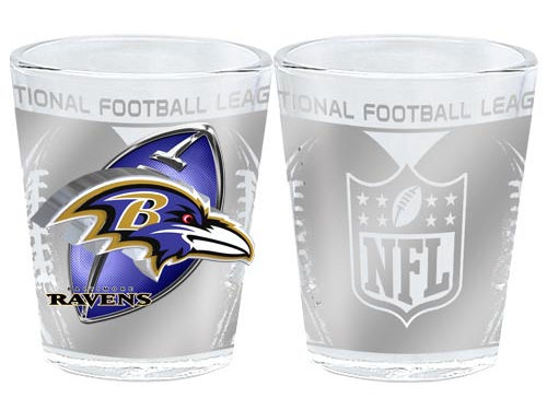 Baltimore Ravens 3D Wrap Collector Glass