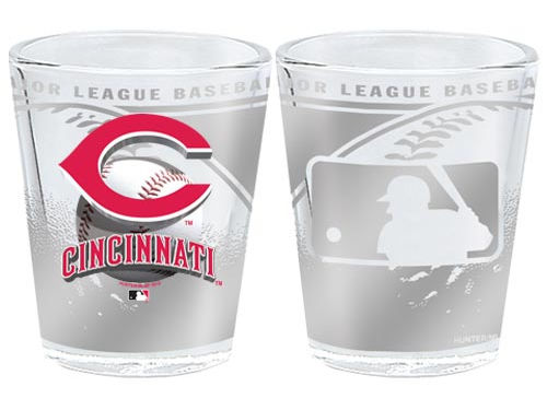 Cincinnati Reds 3D Wrap Collector Glass