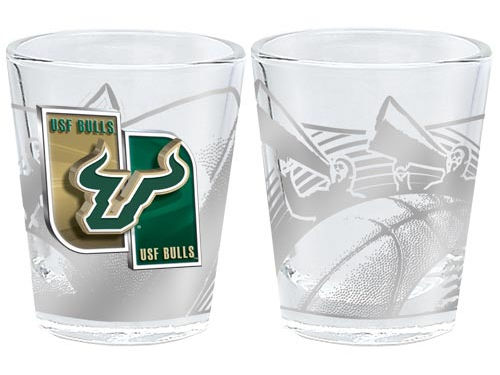 South Florida Bulls 3D Wrap Collector Glass