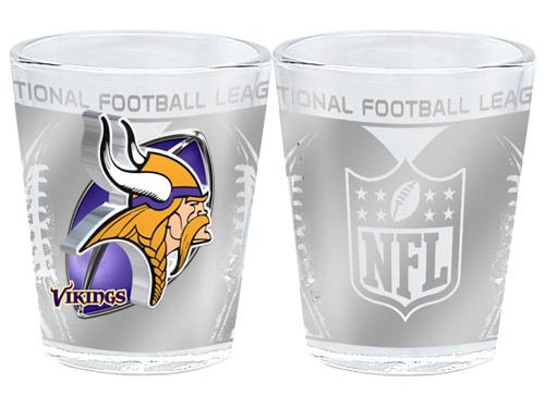 Minnesota Vikings 3D Wrap Collector Glass
