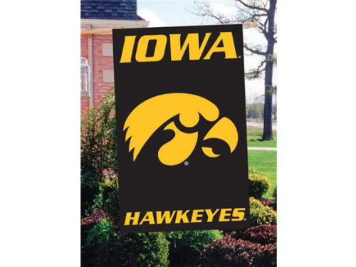 Iowa Hawkeyes Applique House Flag