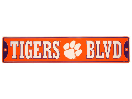 Clemson Tigers Team Street Sign