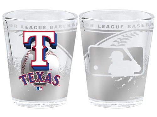 Texas Rangers 3D Wrap Collector Glass
