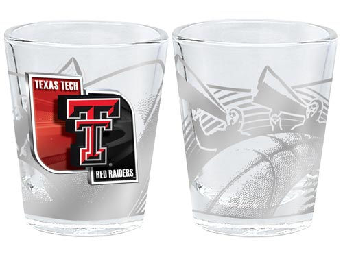 Texas Tech Red Raiders 3D Wrap Collector Glass
