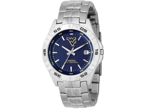 West Virginia Mountaineers 3 Hand Date Color Dial Watch
