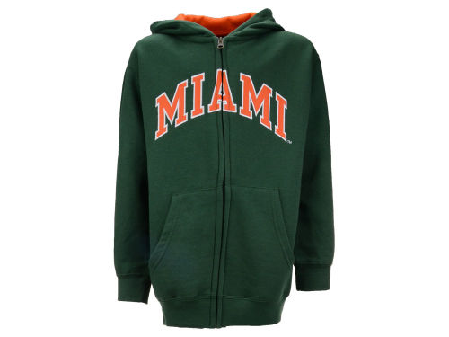 Miami Hurricanes Outerstuff NCAA Youth Full-Zip Hoodie