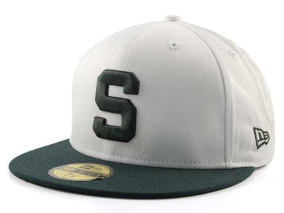 Michigan State Spartans NCAA White 2 Tone 59FIFTY Hats