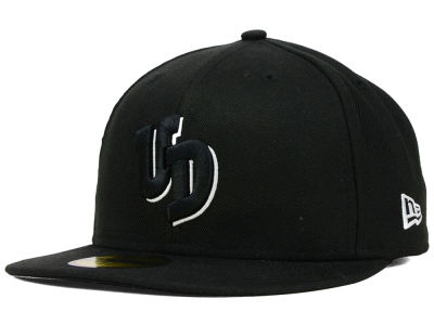 Dayton Flyers NCAA Black on Black with White 59FIFTY Cap Hats