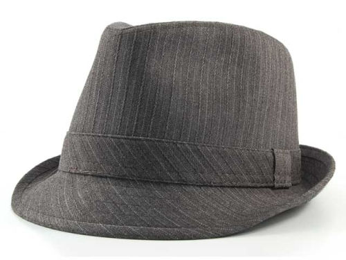 LIDS Private Label PL Grey Striped Fedora Hats