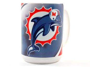 Miami Dolphins Hunter Manufacturing 15oz Jumbo Mug images, details and specs