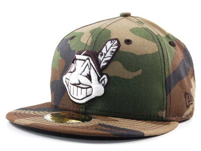 Cleveland Indians MLB BC Camo 59FIFTY Cap Hats