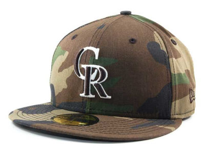 Colorado Rockies MLB BC Camo 59FIFTY Hats