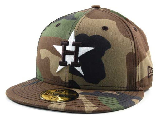 Houston Astros New Era MLB BC Camo 59FIFTY Cap Hats