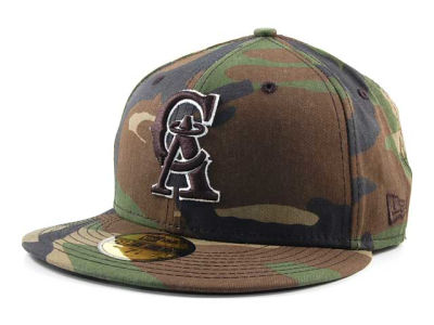 Los Angeles Angels of Anaheim MLB BC Camo 59FIFTY Cap Hats